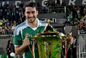 Dani Abalo con el título de Liga búlgaro.